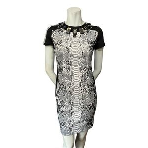 MICHAEL Michael Kors Snakeskin Print Dress XS